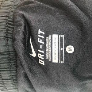 Nike Shorts - NIKE Dri Fit Black & Coral Running Shorts